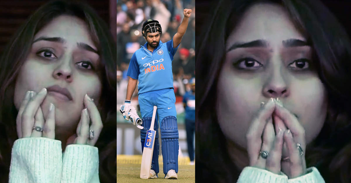 Ritika gets emotional as Rohit kisses & dedicates his historical knock to her