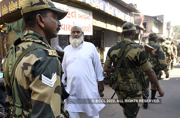 Gujarat polls: Security tightened in sensitive areas