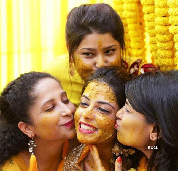 Pooja Singh's haldi ceremony