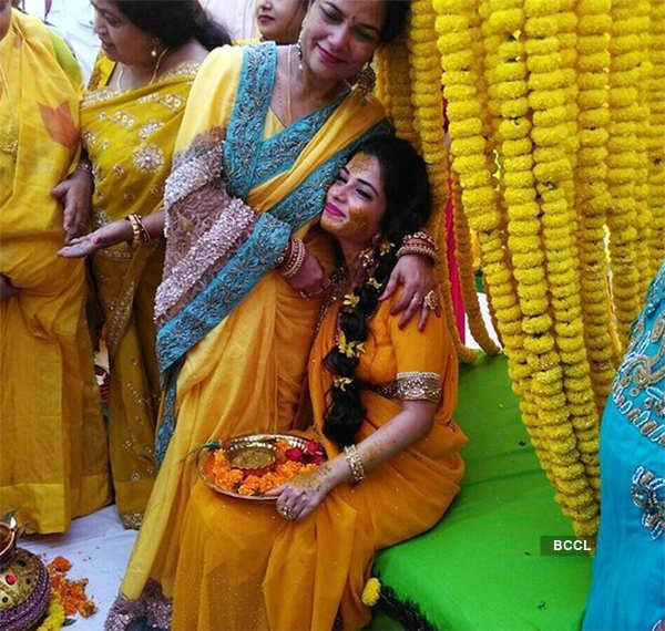 Pooja's haldi ceremony pictures