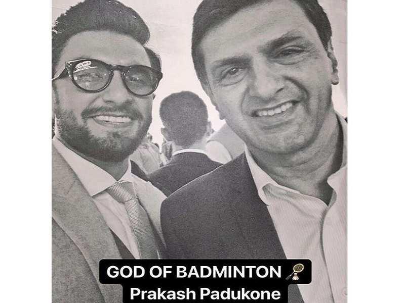Pic: Ranveer Singh's memorable selfie with Deepika Padukone's father Prakash Padukone