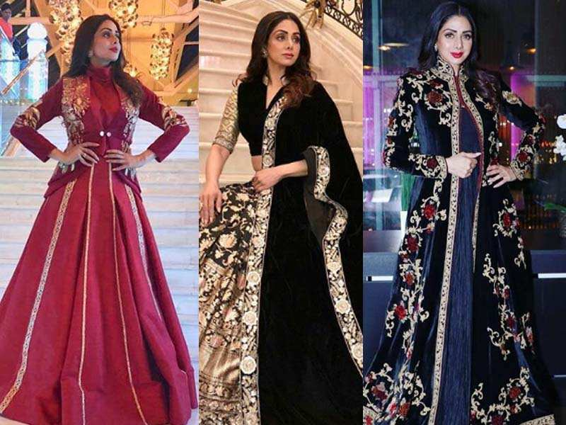 Pics: Sridevi looks ethereal in these Indian attires for 'Mom' Russia premiere