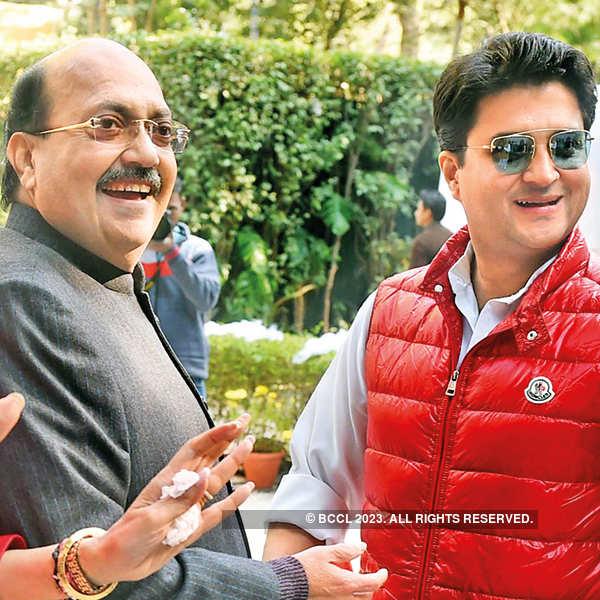Amar Singh and Jyotiraditya Scindia