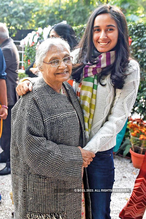 Sheila Dikshit and granddaughter Afiya