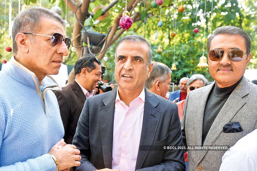 Rajan Mittal, Sunil Bharti Mittal and Praful Patel