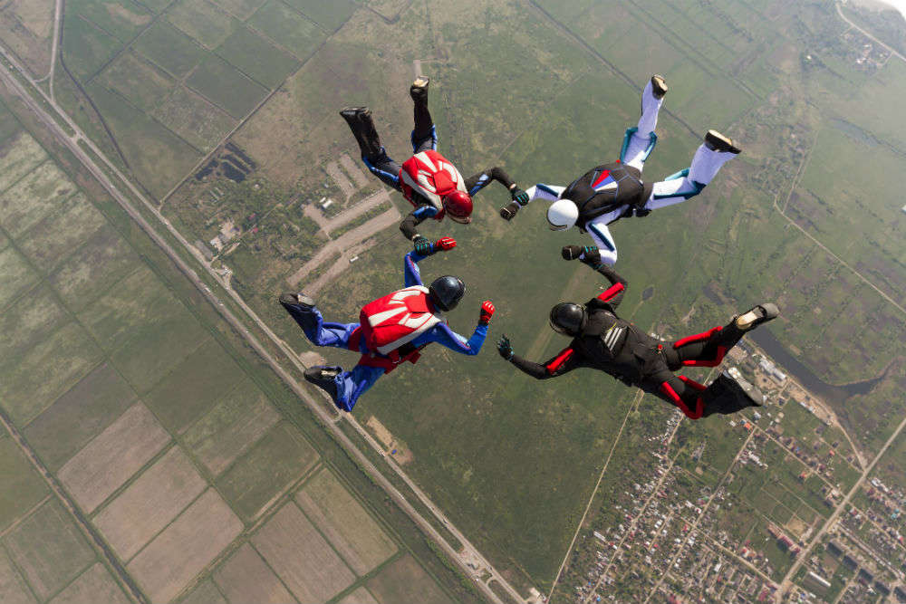 Image result for SKY DIVING IN INDIA