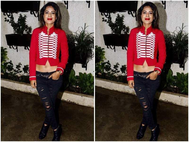 Nia Sharma in Red Photos