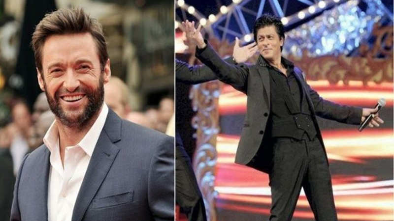 Hugh Jackman takes inspiration from Shah Rukh Khan, copies his signature pose