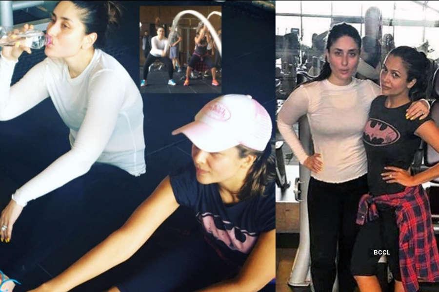 Kareena and Amrita at gym