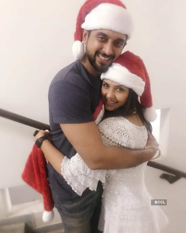 TV star Dalljiet Kaur celebrates Christmas with family & friends