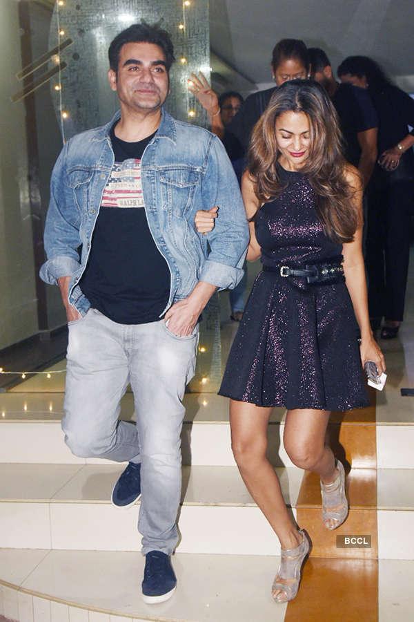 Malaika Arora and Arbaaz Khan party together