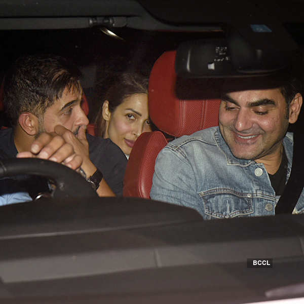Malaika Arora and Arbaaz Khan party together