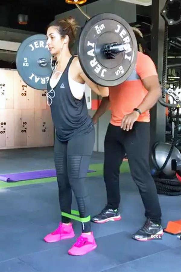 Malaika Arora's gym workout