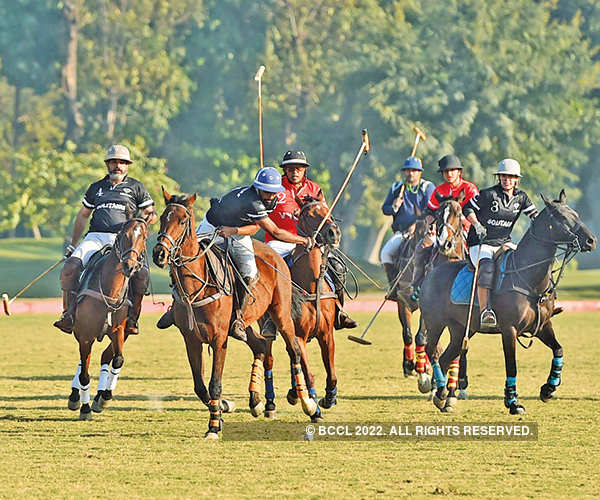 Socialites attend polo match