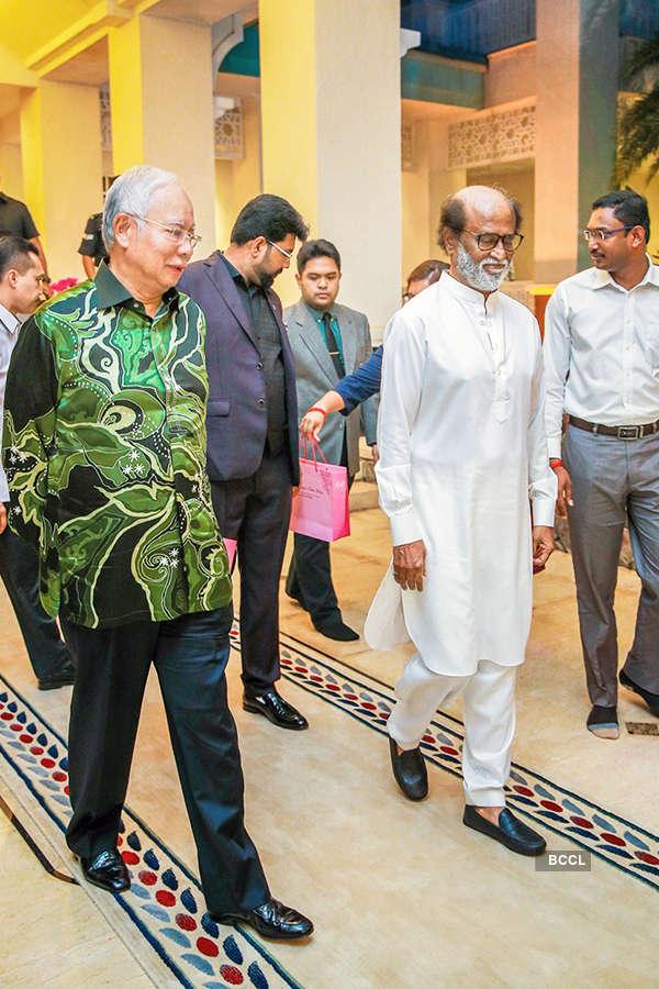 Superstar Rajinikanth meets Malaysian Prime Minister Najib Razak