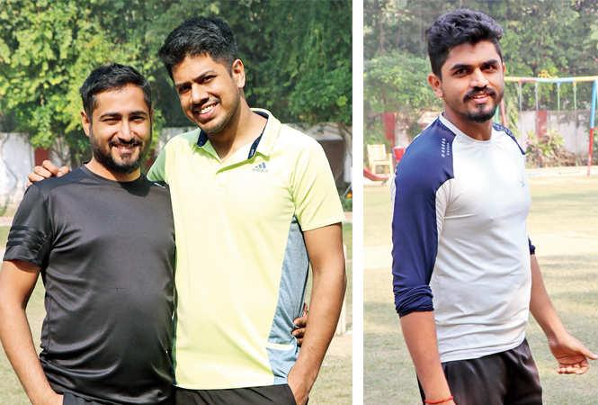 Vijay Peshwani and Jai Peshwani (R) Yash Shah  (BCCL/  Unmesh Pandey)