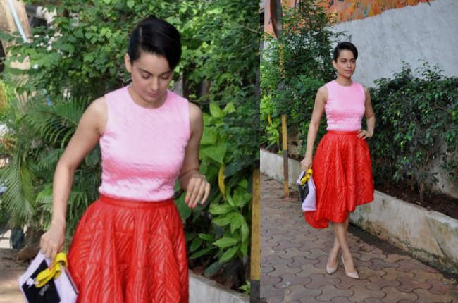 Kangana Ranaut hot in red and pink