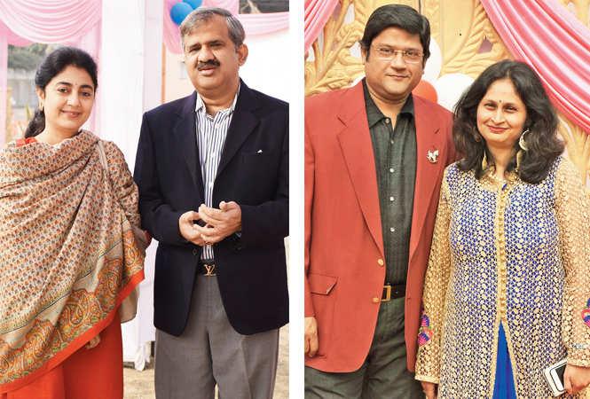 Namrata & Dr Ravi Dube (R) Rajiv Agarwal and  Tulika Chandra (BCCL/ Vishnu Jaiswal)