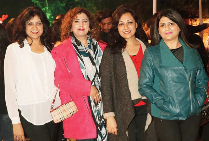 (L-R) Sonia Didwania, Pooja Madhok, Shweta & Sheetal Khanna  (BCCL/ Unmesh Pandey)