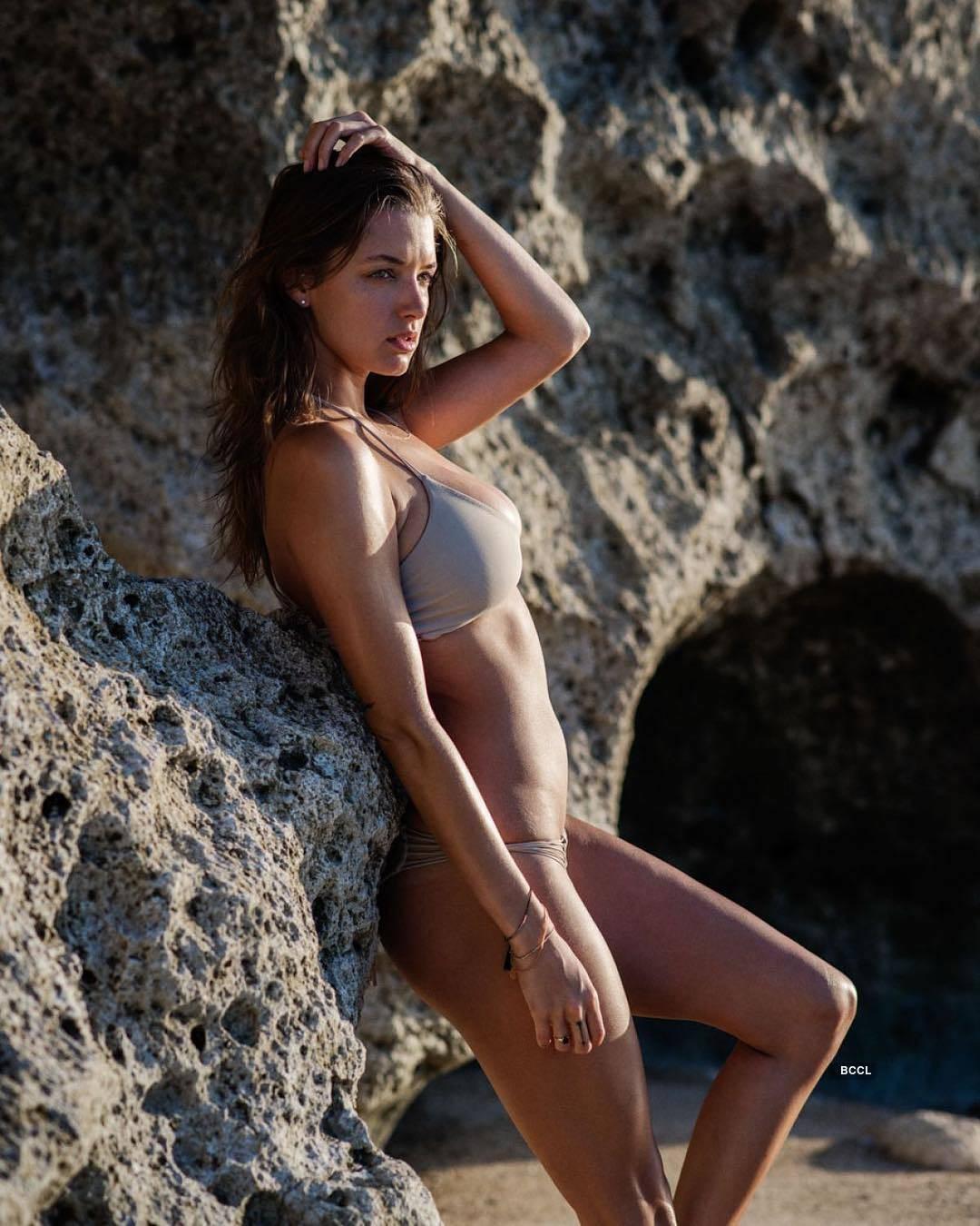 American model Alyssa Arce has flawless skin
