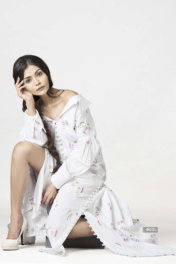 Actress Asma Siddique turns muse for designer Shivam