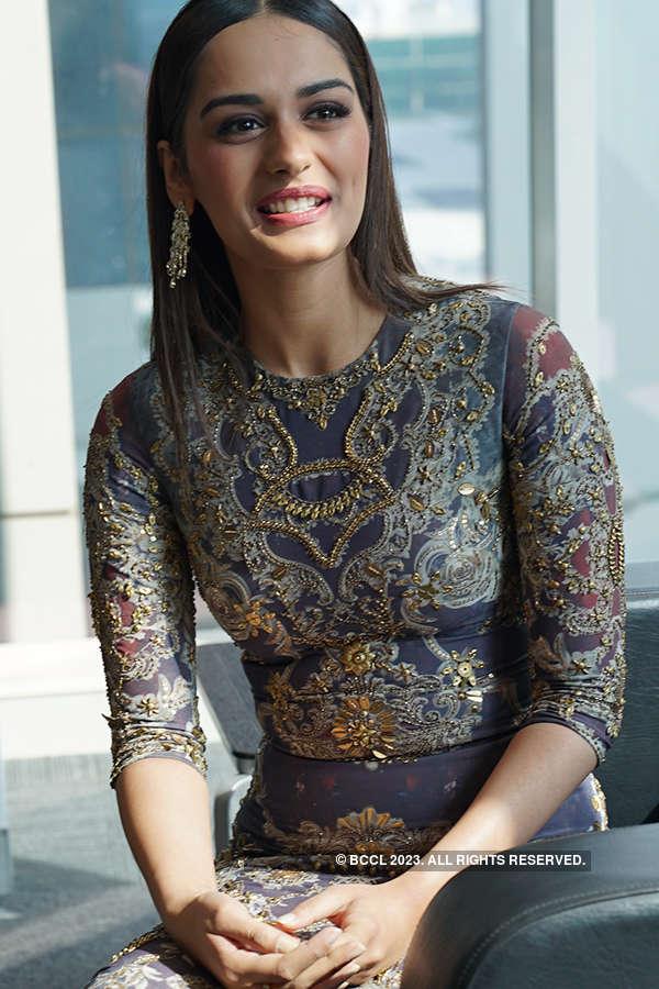 Miss World 2017 Manushi Chhillar visits Bennett University