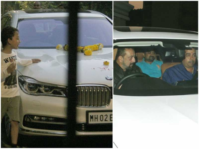 Pics: Sanjay Dutt sports his new luxury car - Bollywood celebrities and their expensive cars  | The Times of India