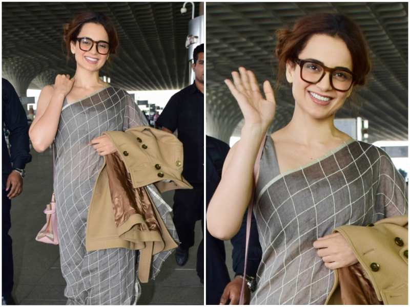 Pic: Kangana Ranaut hits a new high with her latest airport look