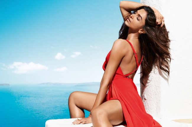 Deepika Padukone in Sexy Red Photo