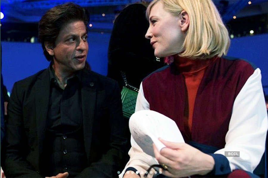 Shah Rukh Khan shares a fanboy moment with Cate Blanchett, honoured with Crystal Award