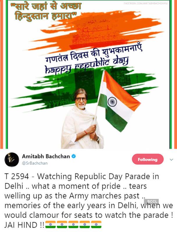 From Amitabh Bachchan to Sachin Tendulkar, celebrities wish you on Republic Day!