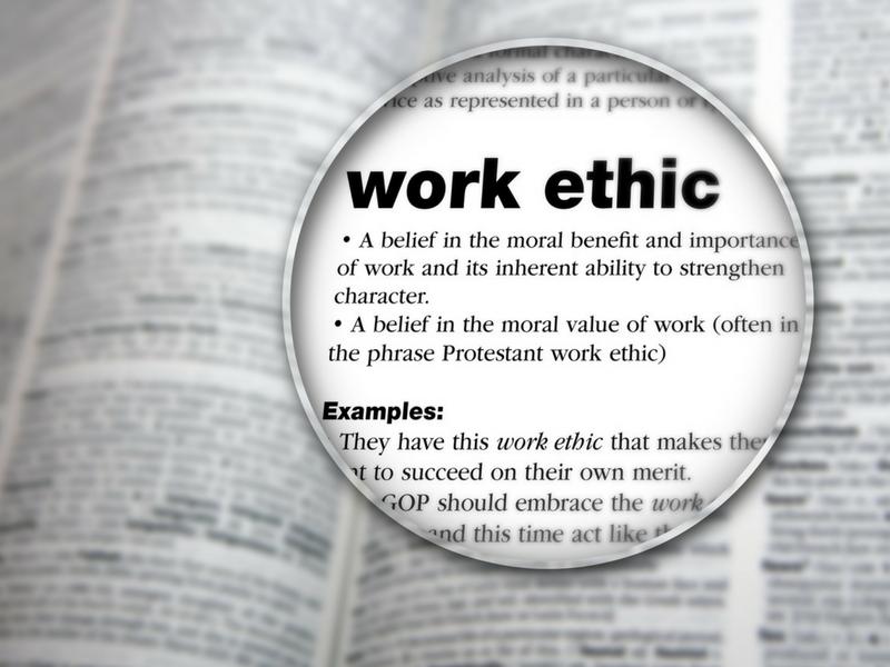 good work ethic examples