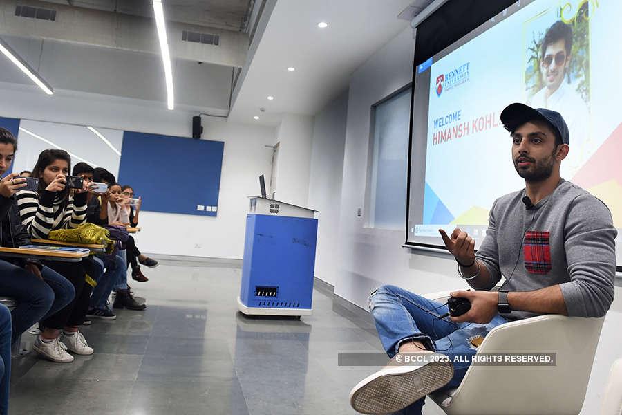 Actor Himansh Kohli visits Bennett University