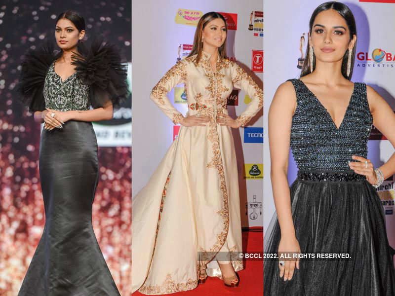 Beauty Queens at Royal Stag Mirchi Music Awards