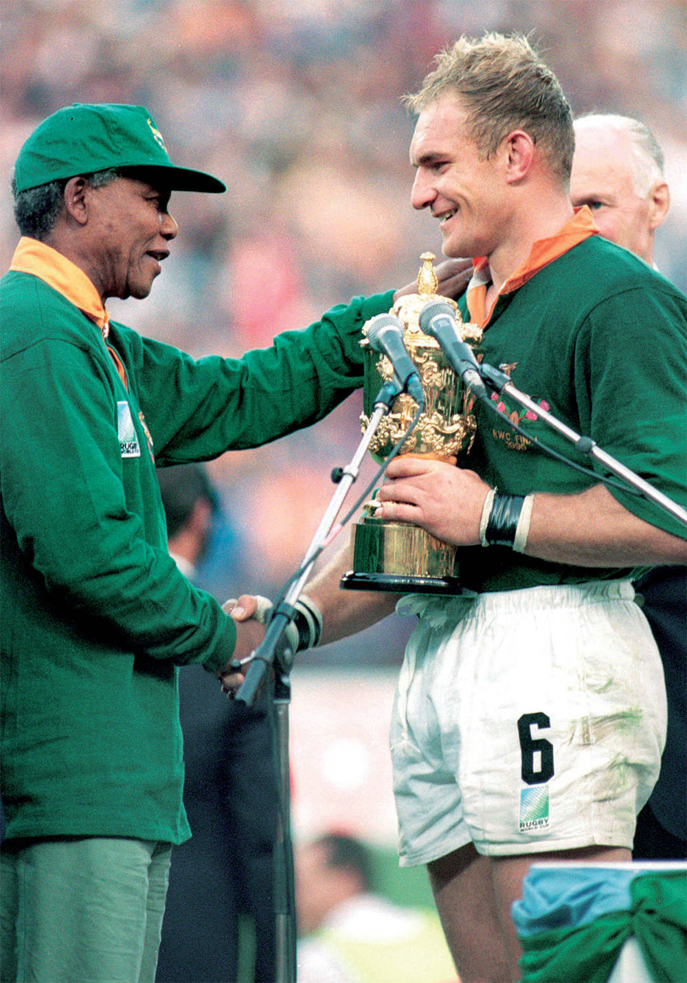 5f375df7e22 When Nelson Mandela's No 6 jersey inspired South Africa to win 1995 Rugby  World Cup