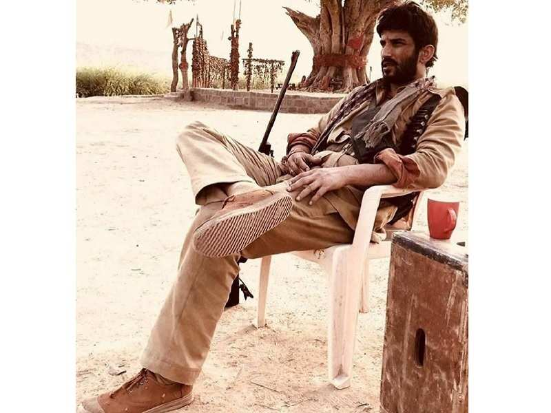 Pic Sushant Singh Rajput Reveals His Dacoit Look For Abhishek