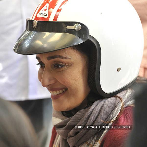 Madhuri Dixit shoots for 'Bucket List'