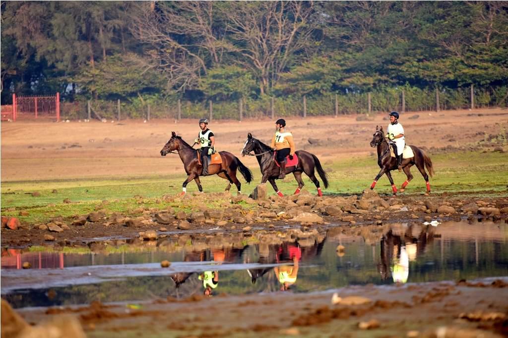 Riders at The Marwari Horse Endurance Championship 2018, Lonavala..