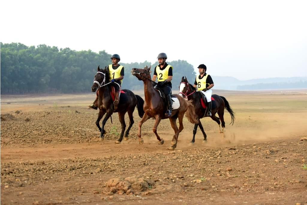 Riders at The Marwari Horse Endurance Championship 2018, Lonavala.