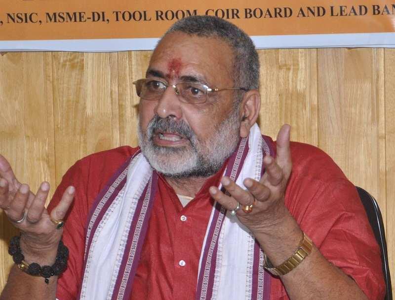 Social harmony gets fractured wherever Hindu population drops: Giriraj Singh