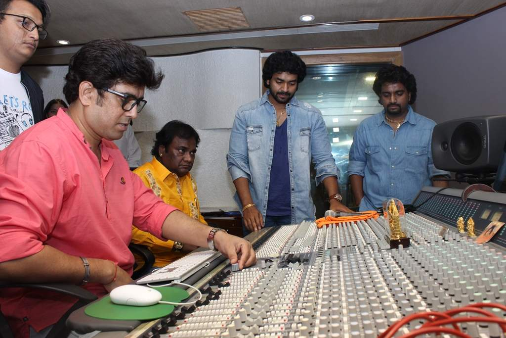 While recording the song
