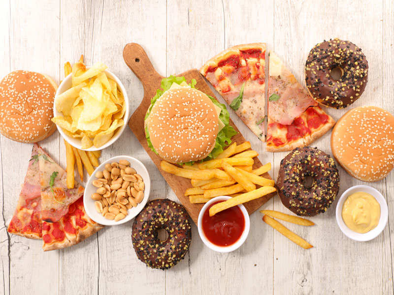 9 most unhealthy junk foods and the amount of exercise needed to