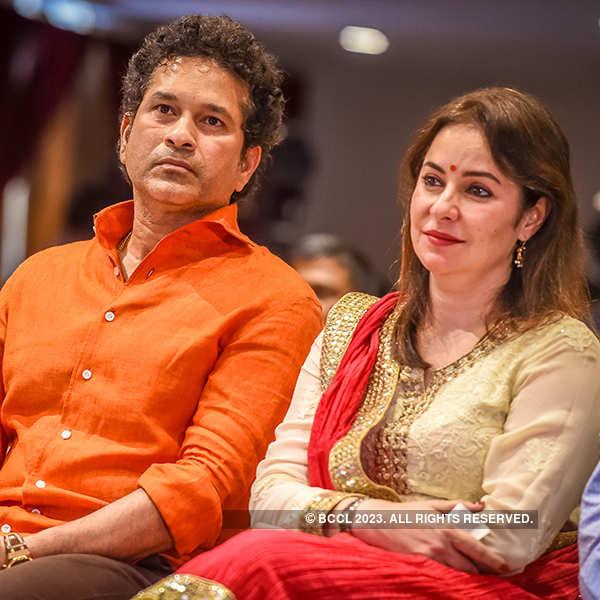 Sachin, Anjali attend book launch