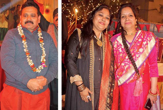 Ravindra Jaiswal (R) Renu Agrawal and Madhvi   (BCCL/ Arvind Kumar)
