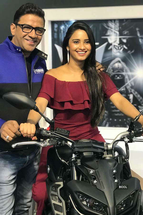 Beauty queens at Auto Expo 2018 Motor show