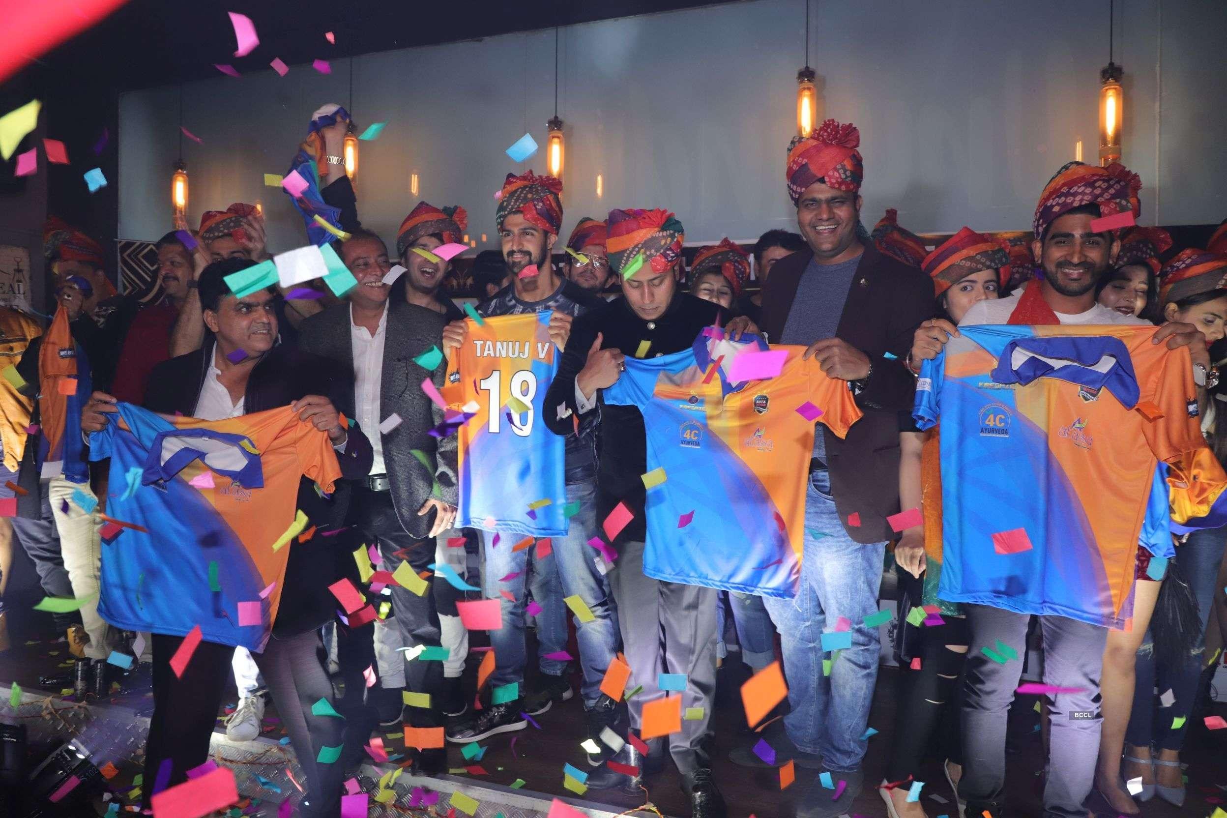 MTV BCL team Kota Royals Rajasthan's owners Riyaz Bhati, Sarosh Khan & Amin Pawar announce team members and it's official jersey