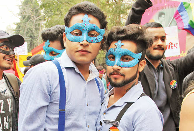 A dance of joy at the Awadh Queer Pride walk in Lucknow (BCCL/ aDitya Yadav)