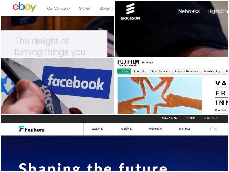 Ebay Inc Us Ericsson Sweden Facebook Us Fujifilm Japan Fujikura Ltd Japan Gadgets Now
