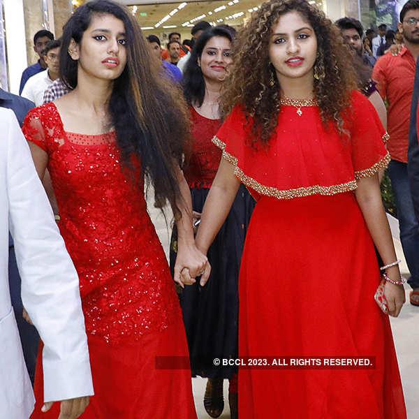 Priya Prakash Varrier attends a flower show