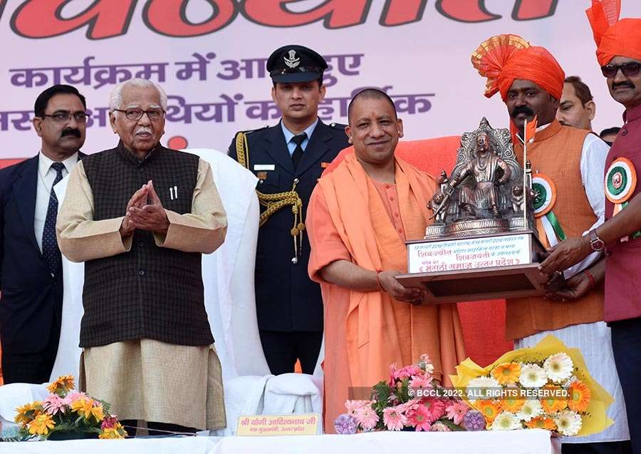 Yogi Adityanath celebrates Shivaji jayanti